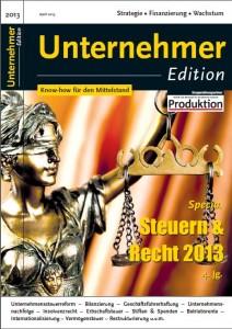Unternehmeredition_Steuern_Recht_2013