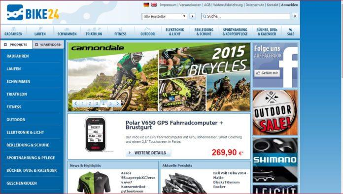 Website von Bike24 GmbH: Aquin beriet The Riverside Company beim Kauf des Dresdner Onlinehändlers. (© Bike24 GmbH)