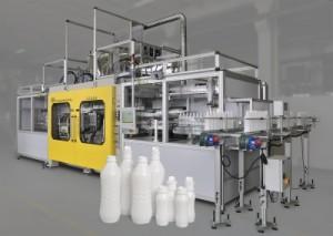 Extrusions-Blasformanlage: Mit ihr lassen sich Verpackungen und technische Teile herstellen (© BEKUM Maschinenfabriken GmbH)