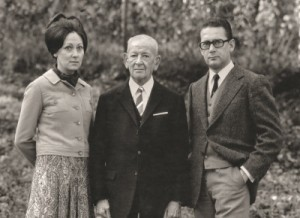 Starke Familie: Der Gründer Andreas Stihl mit seinen Kindern Eva Mayr-Stihl und Hans Peter Stihl. Sie leiteten das Unternehmen bis 2002 und wechselten dann in den Beirat (© Stihl Holding AG & Co. KG)