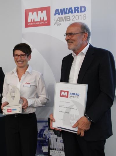 Anke Reichenecker, Leitung Marketing bei Hainbuch und Gerhard Rall, geschäftsführender Gesellschafter. (© Hainbuch)