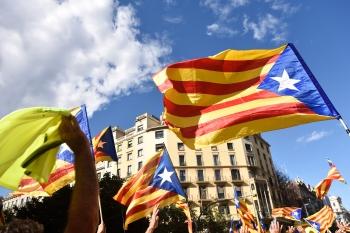 Katalanische Separatisten: Hunderttausende demonstrierten auf den Straßen für die Abspaltung von Spanien.