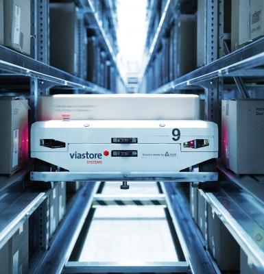 Intralogistik-System von Viastore: Automatisierte Abläufe sollen die Lagerung effizienter machen.