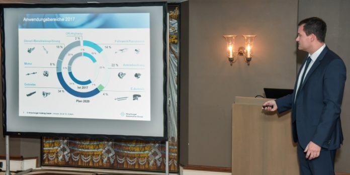 Frank Anisits bei seinem Vortrag: Viel zum Thema Industrie 4.0 recherchiert.