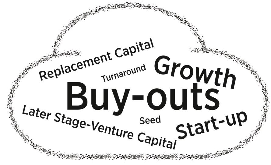 Die verschiedenen Investitionen von Private Equity nach Volumen. Quelle: Eigene Darstellung, angelehnt an Zahlen des BVK