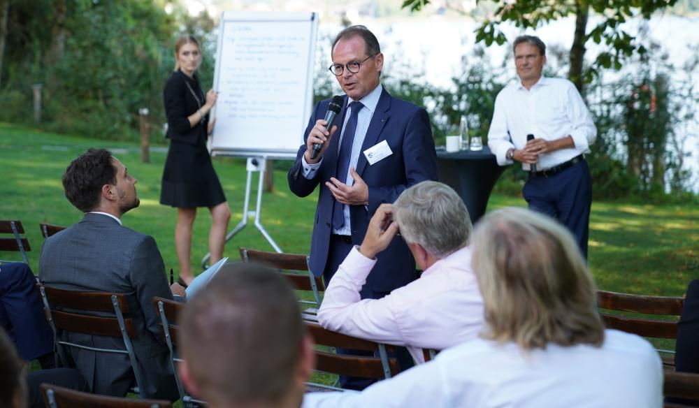 Udo Mager beim Wachstumscafé: Unternehmer fragen Unternehmer.