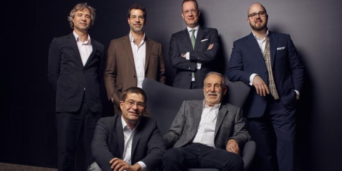 Das Family Office der Familie Grohe (v.l.n.r.): Richard, Philippe, Claus (vorne), Robert Clausen, Pierre Nicolas und Jan Nikolas Grohe
