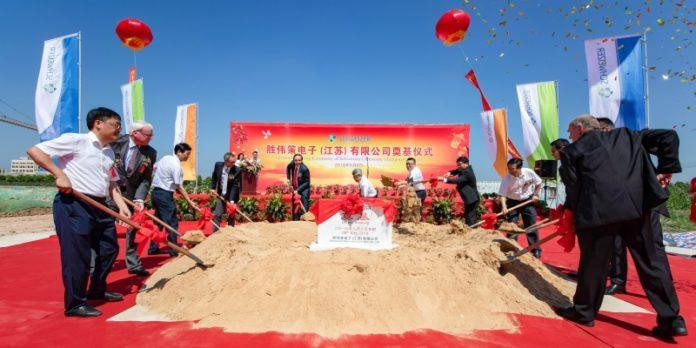 Grundsteinlegung im chinesischen Jintan im August: Ab 2020 sollen hier Produkte der Leistungselektronik und sogenannte Embedding-Anwendungen hergestellt werden