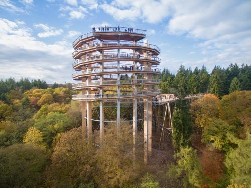 Holzturm mit Besucherplattform: Das Projekt hat nicht nur Fans, sondern auch Gegner.