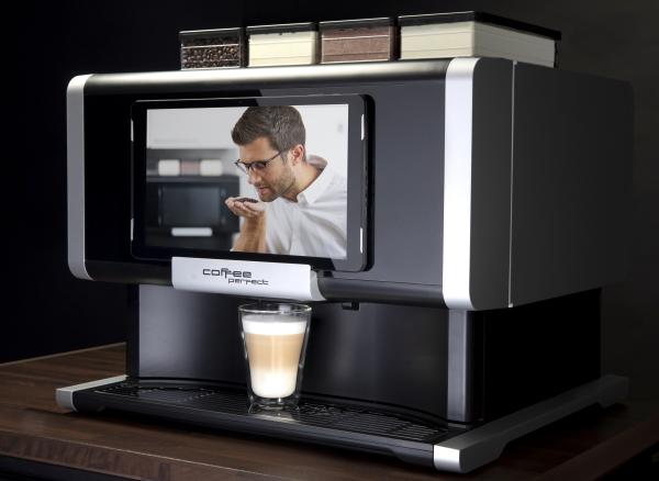 Vollautomat von Coffee Perfect: Das Unternehmen sieht seine USPs in der Flexibilitätsgarantie, Innovationen und einer nachhaltigen Produktlinie.